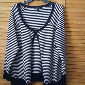 Lane Bryant Black & Sparkle Strip Cardigan 18/20